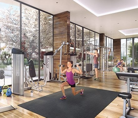 Weights gym